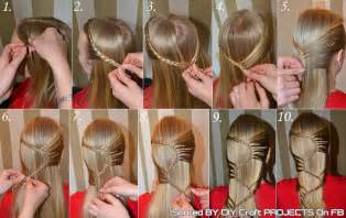 how to braid hair step by step s braid hairstyle step by step diy craft projects