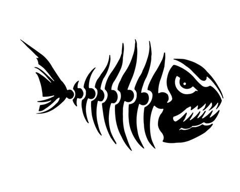 3d Aufkleber Anfertigen by Skelett Aufkleber Angeln Abziehbild Outdoorsman Fisch Etsy