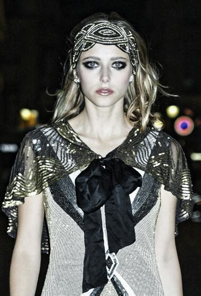 Buy This Look Bilsons Capelet by 1920s Beaded Silk Bow Flapper Capelet The Garbo Gold