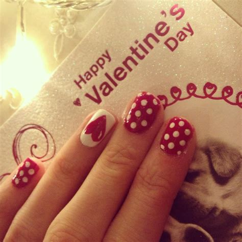 valentines day nails nails by mellissa valentines day nails polka dots