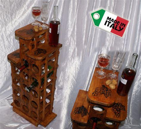 scaffali da cantina cantinetta portabottiglie da vino cantina legno porta 15