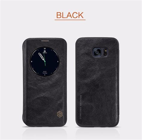 Samsung S7 Edge Nillkin Qin Leather Original 100 nillkin qin series for samsung galaxy s7 edge g9350