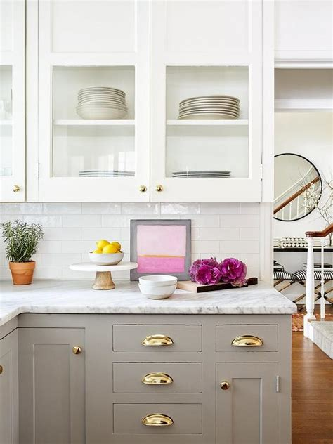 white cabinets grey lower dove gray lower cabinets design ideas