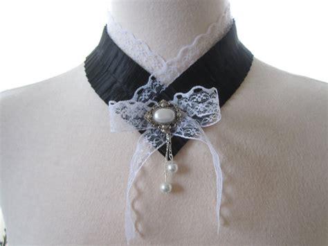 Xylia White Lace Choker W Charm lace choker accessories by jooladesigns