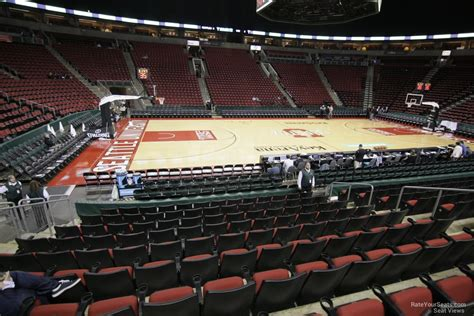 at section 101 keyarena section 113 basketball seating rateyourseats com