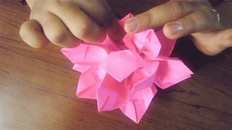 How To Make Origami Lotus - how to make paper origami lotus