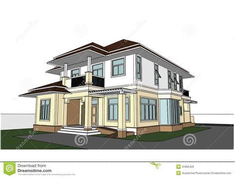house sketch design sketch design of house vector stock vector image 41895429