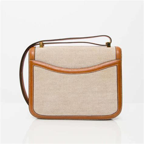 Constance Gold Shw hermes constance two tone toile h shoulder bag at 1stdibs
