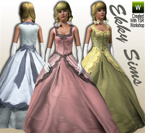 ball gown sims 4 ekky sims vintage ball gown