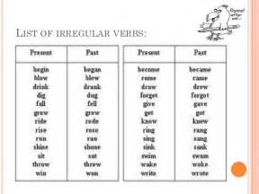 irregular verb worksheets for 5th grade englishlinx