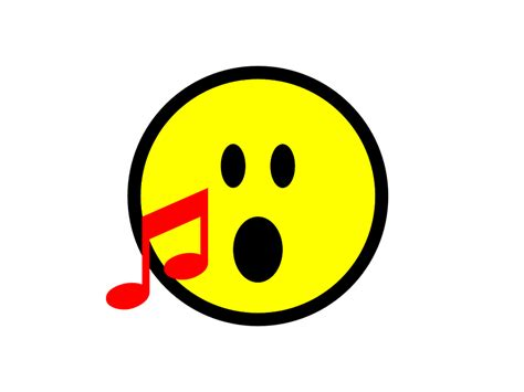 free illustration emoji sing singing icon free image
