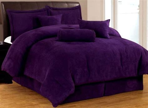 dark purple comforter sets total fab solid purple teen bedding sets