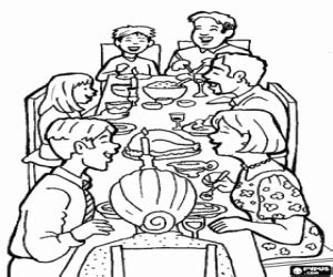 coloring pages of a family eating sketch of eating at the dinner table coloring pages