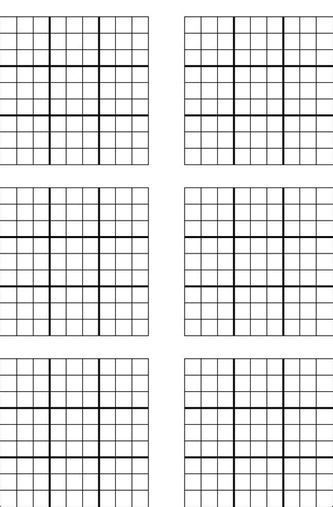 free printable sudoku templates 6 best images of free printable sudoku blanks free