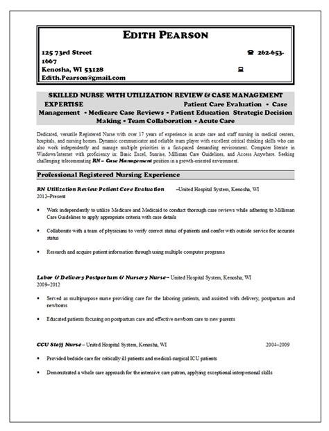 12 best rn resume images on rn resume sle