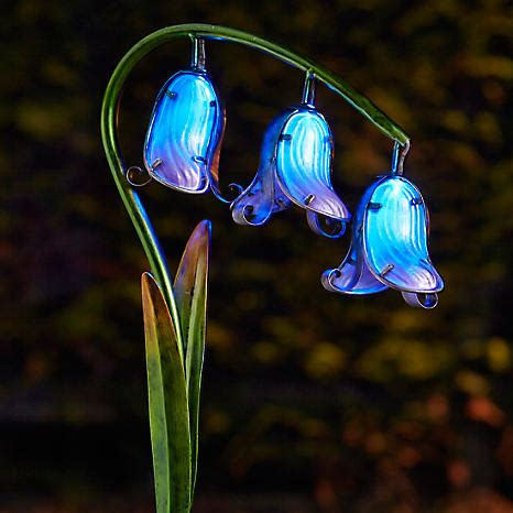 glass flower solar lights pack of 2 solar powered glass bluebell flowers look again