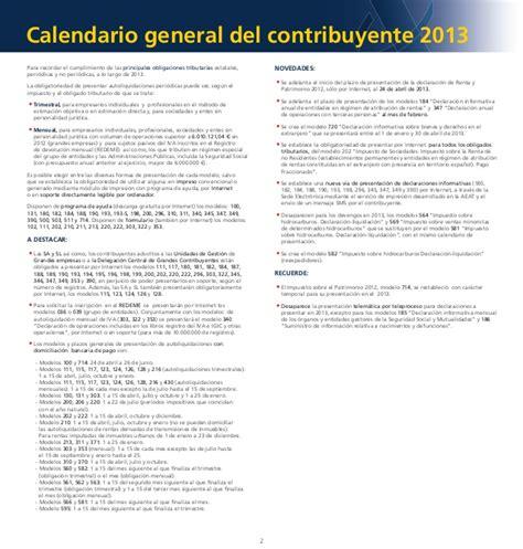 Calendario Hacienda 2015 Calendario Contribuyente En 2015 Renta 2015