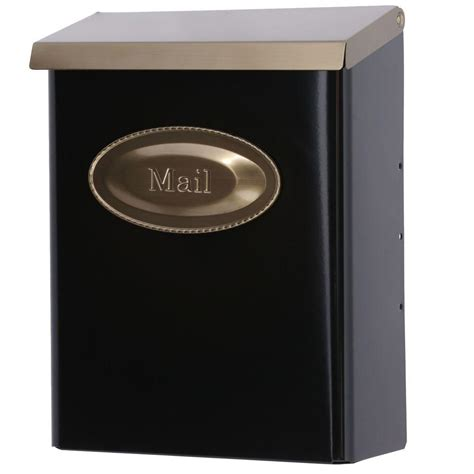 Decorative Wall Mount Mailboxes by Gibraltar Mailboxes Designer Black Vertical Wall Mount