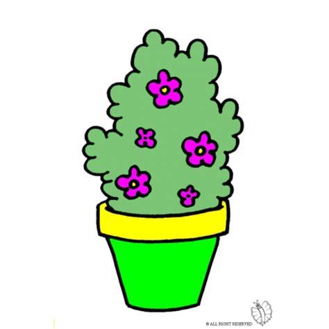 disegno vaso di fiori disegno di pianta di fiori a colori per bambini