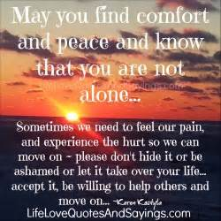 may you find comfort and peace