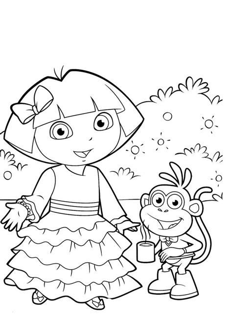 Dora Aventureira para Colorir e Imprimir - Muito Fácil