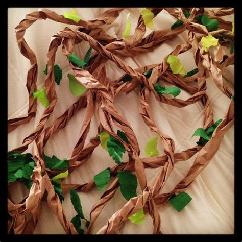 How To Make Jungle Vines Out Of Paper - vines just in you need to decorate brown craft