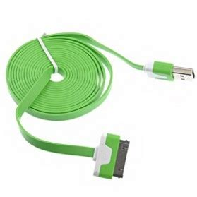 Taff Flat Noodle Charging Sync Data Usb 100 Cm Oren 30 Pin Apple taffware flat noodle charging sync data cable for iphone 4