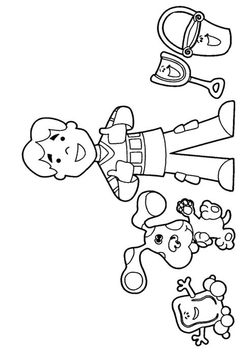 coloring pages blues clues az coloring pages