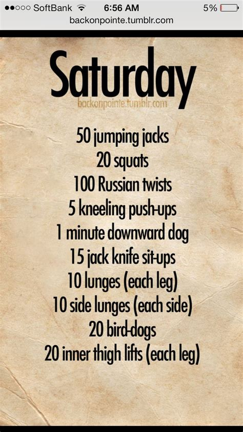 daily workout plan back on pointe workouts