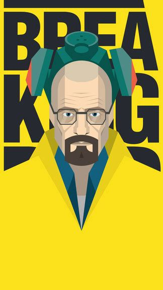 breaking bad heisenberg vector artwork iphone  wallpaper