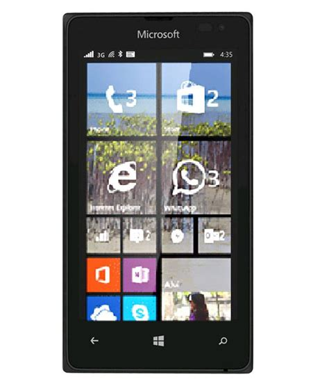 Microsoft Lumia 435 Black Smartphone microsoft lumia 435 8gb black