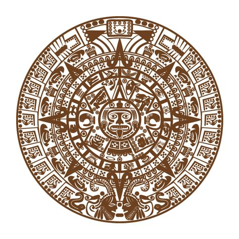 Box Azteca Calendario Vinyl Decorative Of The Aztec Calendar Sun