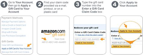 Amazon Gift Card Claim Codes - amazon com help apply a gift card to your account