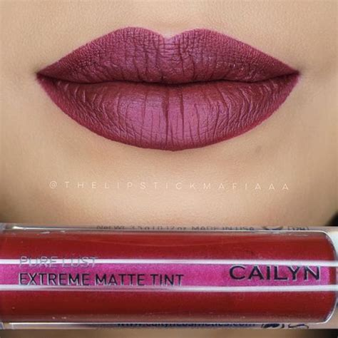 Cailyn Lust Lipstick 31 Plum cailyn lust matte tint demonist cailyn cosmetics ps