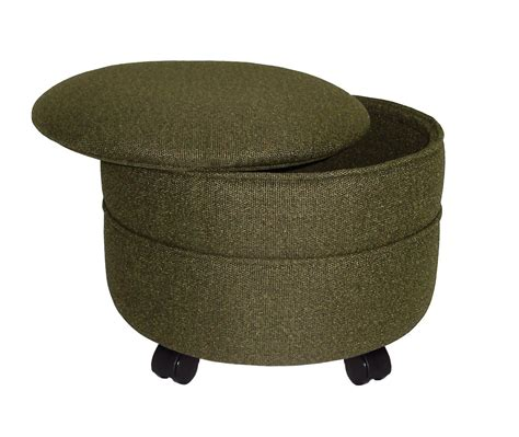storage round ottoman furniture amazing round storage ottoman for home