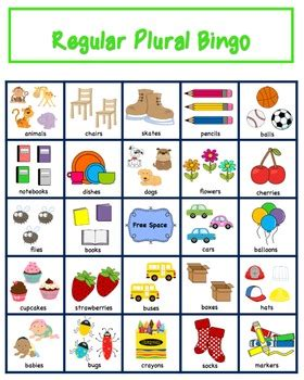 plural bingo regular plura by the autism helper