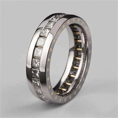 s geo elipse eternity ring palladium diamonds