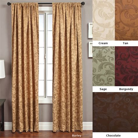 curtains overstock com livingston rod pocket 96 inch curtain panel contemporary