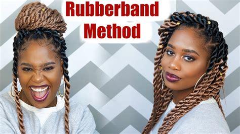 jumbo rope twists rubber band method  ez twin braid