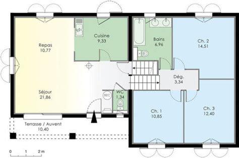 plan maison demi niveau 4 chambres villa basse moderne avec plan le monde de l 233 a