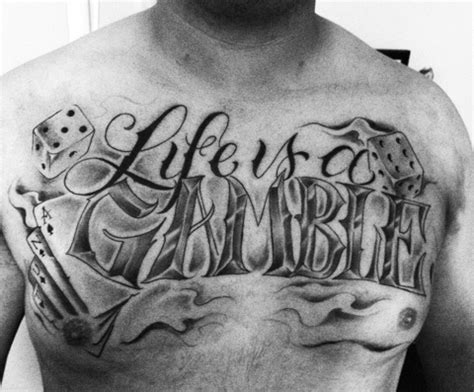tattoo of life is a gamble gambling tattoo images designs