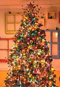 white christmas tree with colored lights ls ideas