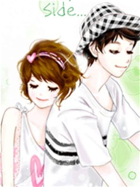 pics for gt cute korean anime couple