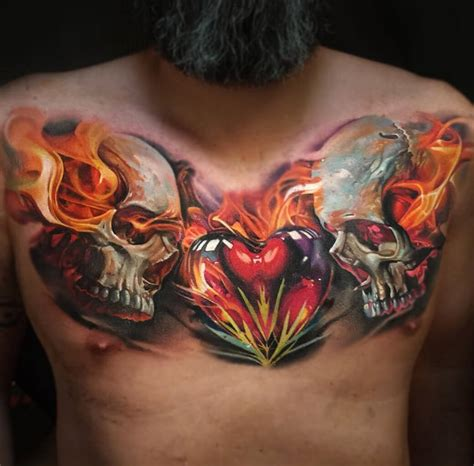 100 tattoo on chest for the 100 best chest tattoos for improb