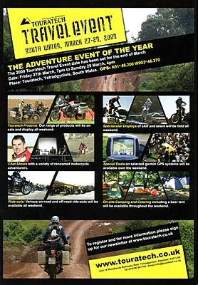 touratech travel event south wales uk   march