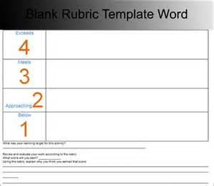 Blank Rubric Template by Rubric Templates Free Pdf Word Excel Format