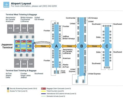 Denver International Airport Diagram