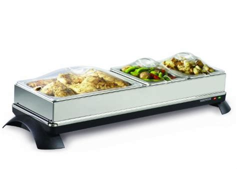 toastess twb454 cordless buffet server warming tray with 4