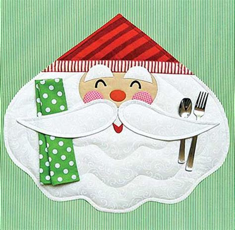 pattern christmas placemats merry santa placemat sewing pattern stitch holidays and