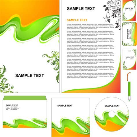 mapping layout perusahaan contoh simple stationary green cdr format